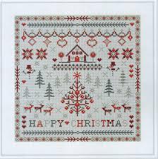 Christmas Cross Stitch Charts Happy Christmas Cross Stitch Chart