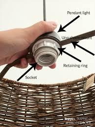 light fixture retaining ring