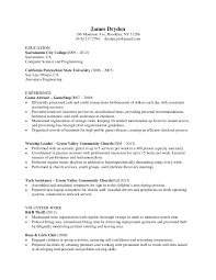 resume of james dryden .