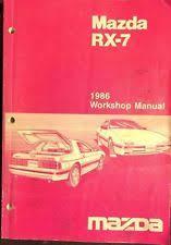 rx manual 1986 mazda rx 7 workshop repair manual wiring diagrams