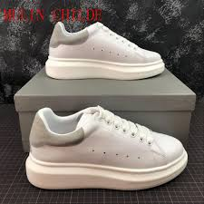 White Designer Shoes Women Us 168 93 Top Quality Designer Shoes Genuine Leather Sneaker Luxury Mens Women Fashion White Leather Platform Shoes Casual Shoes With Box On
