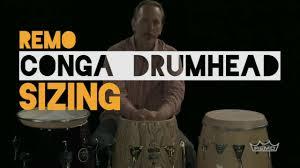 Remo Conga Drumhead Sizing