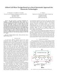 Gilbert Cell Design Pdf Gilbert Cell Mixer Design Based On A Novel Systematic
