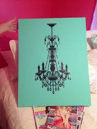 chloe s diy chandelier wall art on painted turquoise canvas diy