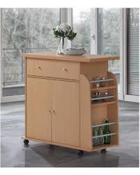 Check Out These Hot Deals on Hodedah Modern Mobile Kitchen Island