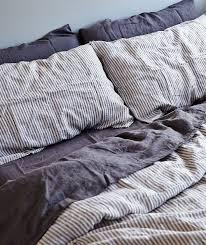 in bed stripe linen duvet set more