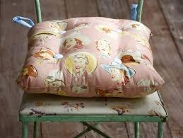 simple tie on diy chair cushion in an hour