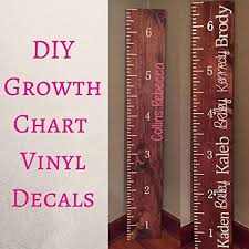 Amazon Com Growth Chart Vinyl Decals Growth Chart Ruler