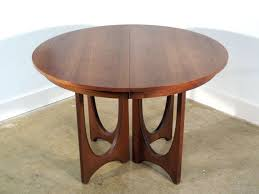 broyhill brasilia dining table round mid century modern walnut 3 with regard to ideas 7