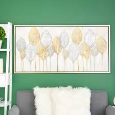 leaves acrylic painting wall art