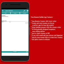 Resume Cv Creator For Android Apk Download