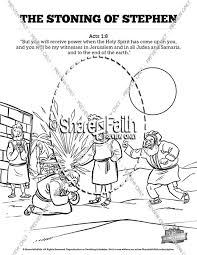 Acts 7 The Stoning Of Stephen Sunday School Coloring Pages Sunday