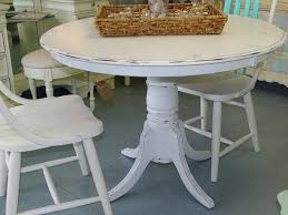 small white pedestal table large size of distressed dining tables with regard to round decor 3