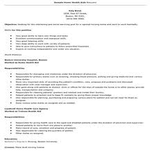 Collection Of Solutions Resume Home Health Aide Homeealth Certified