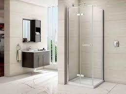 frameless bifold side panel merlyn space saving bathroom ideas