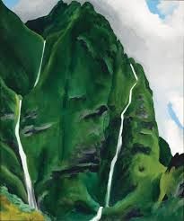 painting by georgia o keeffe oil on canvas courtesy of honolulu museum of art