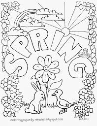 Spring Coloring Worksheets For Kindergarten With Coloring Pages Free