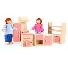 dolls furniture set. Amazon.com: Arshiner Happy Family Doll Kitchen House Furniture Wooden Livingroom Set Kids Gift Pink: Toys \u0026 Games Dolls