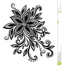 Flowers With Designs Beautiful Black And White Flower With Imitation Lace