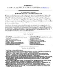 Transportation Coordinator Resume Sample & Template