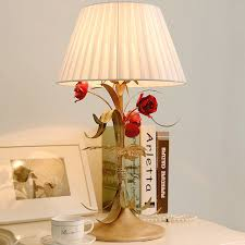country style table lamp creative wedding bedroom bedside lamp warm decor retro table lamps wrought