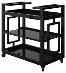 Penelope Modern Bar Cart With Black Metal Frame modern-bar-carts
