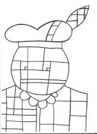Kleurplaat Zwarte Piet Piet Mondriaan Sinterklaas Mondriaan