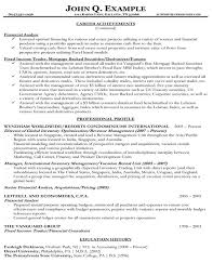 Financial Resume Template Gorgeous Financial Resumes Samples Engneeuforicco