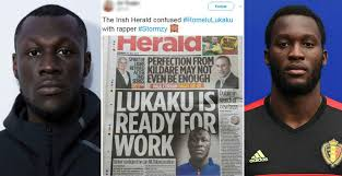 This newspaper just used a picture of Stormzy in a story about Romelu Lukaku  | indy100