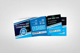 Ticket Design Creative Concert Event Ticket Design Template Template