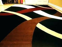 red and brown area rugs brown and black area rug new modern 8 wavy carpet contemporary