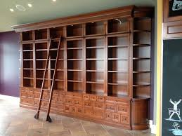 bookcases with ladders david dangerous bookshelves rolling large bookcase ladder traditional furniture view larger wall home