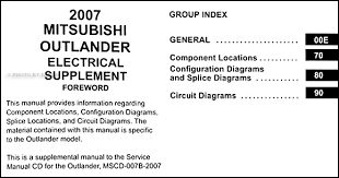 mitsubishi outlander wiring diagram manual original