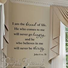 a inspirational kitchen and dining area scripture vinyl wall decal popular during the holiday season for