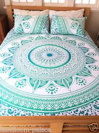 Indian Mandala Double King Size Bed Quilt Duvet Doona Cover ... & Indian Mandala Double King Size Bed Quilt Duvet Doona Cover Blanket Boho  Throw Adamdwight.com