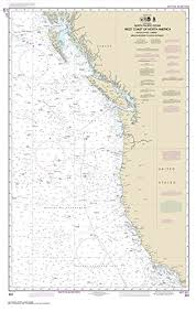 Paradise Cay Publications Noaa Chart 501 North Pacific Ocean West Coast Of North America Mexican Border To Dixon Entrance 27 5 X 43 4 Traditional
