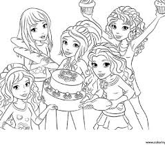 Lego Friends Coloring Pages Color Bros