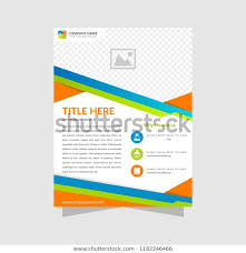Brochure Design Template Flyer Abstract Business Stock