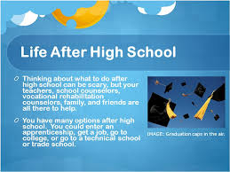 Things To Do After High School Taking The Next Step Life After High School Ppt Download