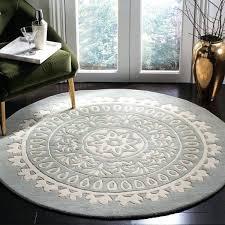 round gray rug handmade grey ivory wool rug gray trellis rug target