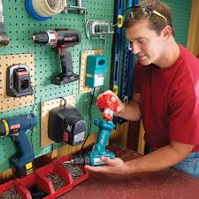 mount charger stands for your cordless tools on s pieces of pegboard and hang them on a pegboard wall so they don t become an octopus like tangle on a
