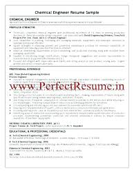 Chemical Engineer Resume Stunning Chemical Engineering Resume Sample Chemical Engineer Resume