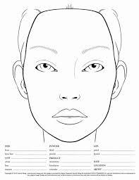 Skin Analysis Chart Unbiased Blank Stila Face Chart Blank Face Template For
