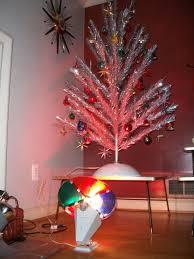 Vintage Silver Christmas Tree With Color Wheel Photo Album - Home ...  Vintage Silver