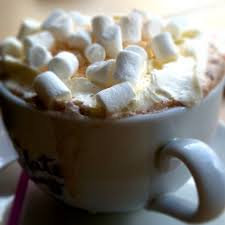 hot chocolate with marshmallows and whipped cream.  Marshmallows With Hot Chocolate Marshmallows And Whipped Cream