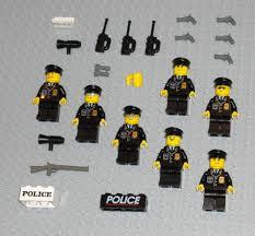 Sale On Legos Lego Minifigures 7 Policemen Swat Team Minifigs Lot Police Guys