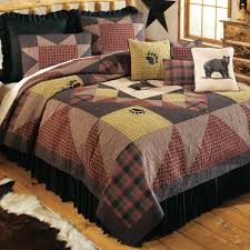 moose bedding sets bedspread rust colored bedspreads western bear paw quilt collection exclusive comforters black forest