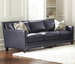 navy blue leather sofa. Hendrix Navy Blue Leather Sofa | Steve Silver Home Gallery Stores B