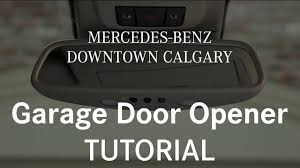 how to program and use your garage door opener mercedes benz calgary