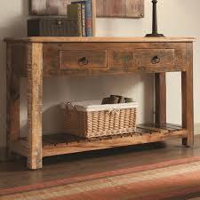 sofa table decor. Rustic Wood Console Table Sofa Decor T